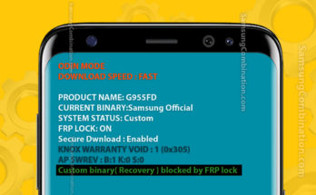custom binary recovery boot blocked by frp lock