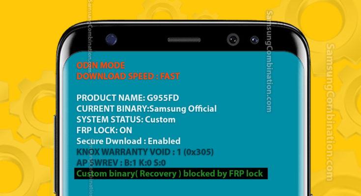 custom binary recovery boot blocked by frp lock