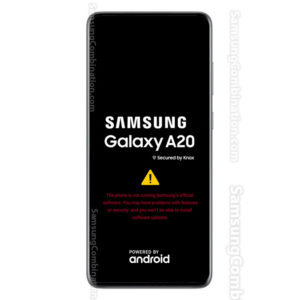 the phone is not running samsung official software a20