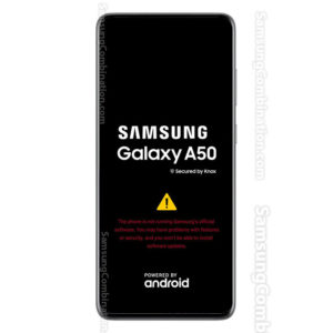 the phone is not running samsung official software a50
