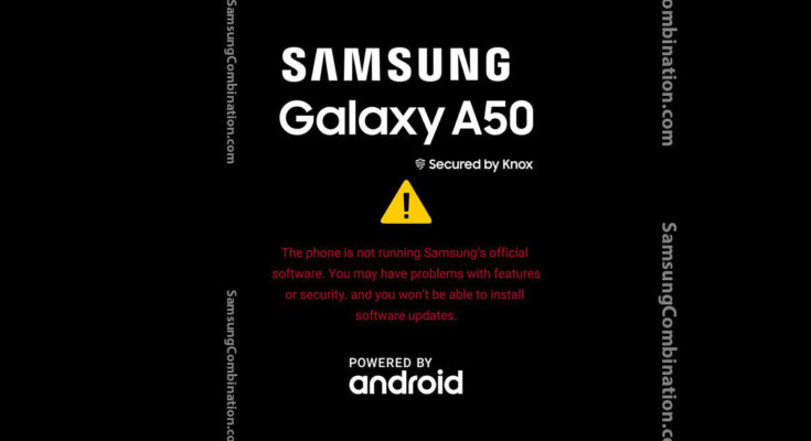the phone is not running samsung's official software