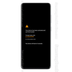 your device unlocked and can not be trusted samsung small